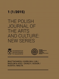 The Polish Journal of the Arts and Culture. New Series, 2015/1, 1 (1/2015)