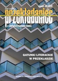 Przekładaniec, 2020/9, 40 - Gatunki literackie w przekładzie
