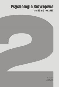 Psychologia Rozwojowa, 2010/10, Tom 15, Numer 2
