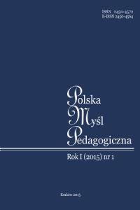 Polska Myśl Pedagogiczna, 2015/1, Numer 1