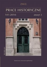 Prace Historyczne, 2014/11, Numer 141 (3)