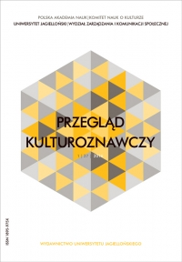 Przegląd Kulturoznawczy, 2016/1, Numer 1 (27)