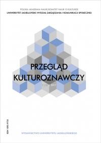 Przegląd Kulturoznawczy, 2017/6, Numer 1 (31)