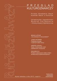 Przegląd Kulturoznawczy, 2013/6, Numer 1 (15)