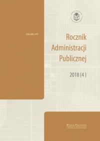 Rocznik Administracji Publicznej, 2018/10, 2018 (4)