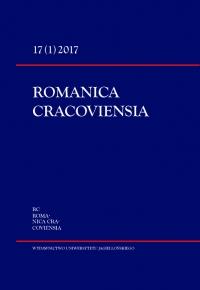 Romanica Cracoviensia, 2017/9, Tom 17, Numer 1