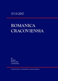 Romanica Cracoviensia, 2017/11, Tom 17, Numer 3