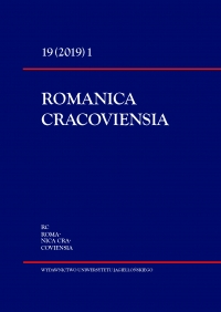 Romanica Cracoviensia, 2019/3, Tom 19, Numer 1