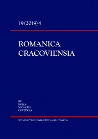 Romanica Cracoviensia, 2019/12, Tom 19, Numer 4