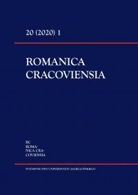 Romanica Cracoviensia, 2020/3, Tom 20, Numer 1