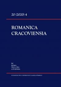 Romanica Cracoviensia, 2020/12, Tom 20, Numer 4