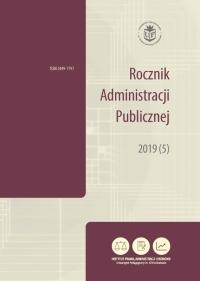 Rocznik Administracji Publicznej, 2020/12, 2020 (6)