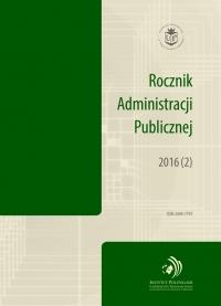 Rocznik Administracji Publicznej, 2016/10, 2016 (2)