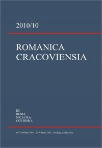 Romanica Cracoviensia, 2010/1, Tom 10, Numer 1