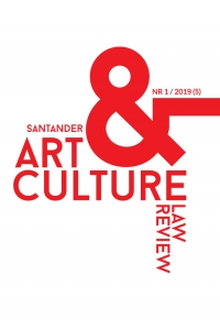 Santander Art and Culture Law Review, 2019/6, 1/2019 (5)