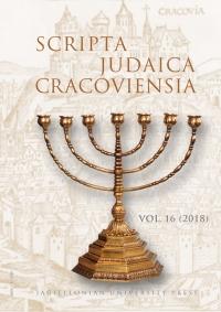 Scripta Judaica Cracoviensia, 2018/12, Volume 16