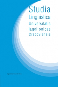 Studia Linguistica Universitatis Iagellonicae Cracoviensis, 2020/9, Volume 137, Issue 3