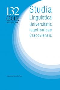 Studia Linguistica Universitatis Iagellonicae Cracoviensis, 2015/7, Volume 132, Issue 3, Eurolinguistics