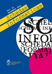 Schedae Informaticae, 2012/12, Volume 21