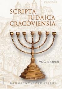 Scripta Judaica Cracoviensia, 2015/11, Volume 13