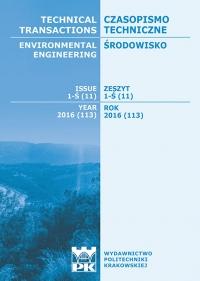 Czasopismo Techniczne, 2016/8, Środowisko 1-Ś (11) 2016
