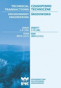 Czasopismo Techniczne, 2014/10, Środowisko Zeszyt 1-Ś (20) 2014