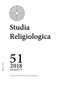 Studia Religiologica, 2018/11, Tom 51, Numer 3