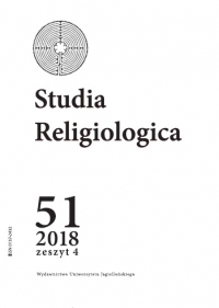 Studia Religiologica, 2018/12, Tom 51, Numer 4