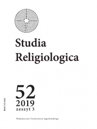 Studia Religiologica, 2019/12, Tom 52, Numer 4