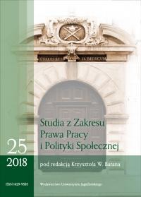 Studia z Zakresu Prawa Pracy i Polityki Społecznej (Studies on Labour Law and Social Policy), 2018/11, Zeszyt 4