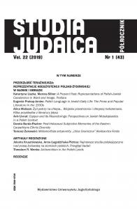 Studia Judaica, 2019/10, Nr 1 (43)