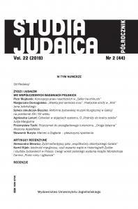Studia Judaica, 2019/12, Nr 2 (44)