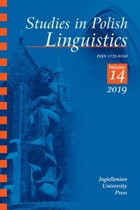 Studies in Polish Linguistics, 2019/3, Issue 1