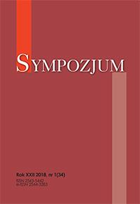 Sympozjum, 2020/5, nr 1 (38)