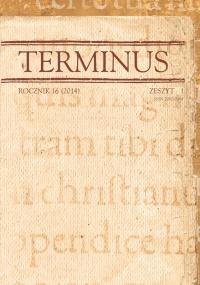 Terminus, 2014/9, Tom 16, Zeszyt 1 (30)
