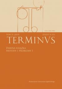 Terminus, 2019/12, Tom 21, zeszyt 4 (53)