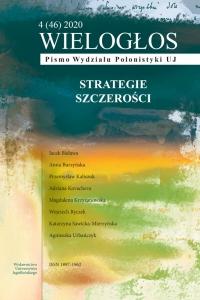 Wielogłos, 2020/12, Numer 4 (46) 2020: Strategie szczerości