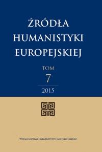 Źródła Humanistyki Europejskiej