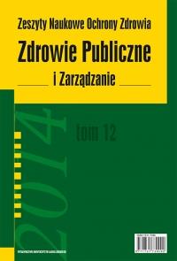 Zdrowie Publiczne i Zarządzanie, 2014/11, Tom 12 Numer 3