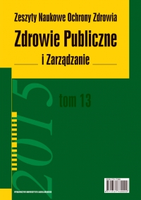 Zdrowie Publiczne i Zarządzanie, 2015/10, Tom 13 Numer 3