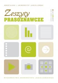 Zeszyty Prasoznawcze, 2019/9, Tom 62, Numer 3 (239)