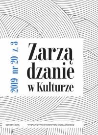 Zarządzanie w Kulturze, 2019/10, Tom 20, Numer 3