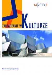 Zarządzanie w Kulturze, 2013/9, Tom 14, Numer 3
