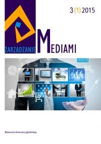 Zarządzanie Mediami, 2015/1, Tom 3, Numer 1