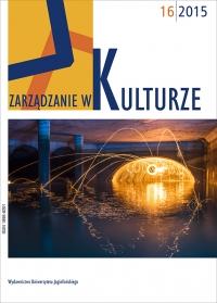 Zarządzanie w Kulturze, 2015/1, Tom 16, Numer 1