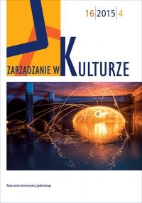 Zarządzanie w Kulturze, 2015/9, Tom 16, Numer 4