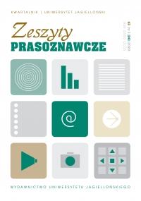 Zeszyty Prasoznawcze, 2020/8, Tom 63, Numer 3 (243)