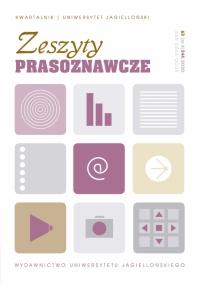 Zeszyty Prasoznawcze, 2021/2, Tom 64, Numer 1 (245)