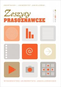 Zeszyty Prasoznawcze, 2016/6, Tom 59, Numer 1 (225)