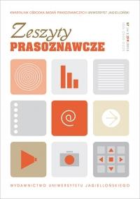Zeszyty Prasoznawcze, 2014/11, Tom 57, Numer 3 (219)